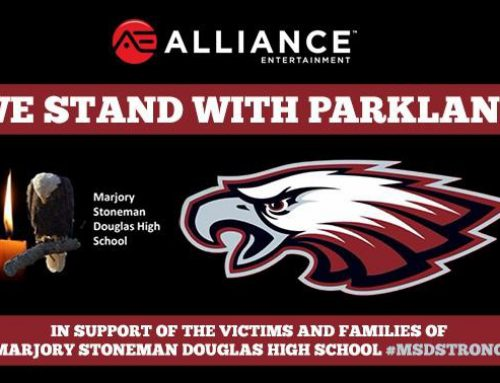 ALLIANCE ENTERTAINMENT: WE STAND WITH PARKLAND